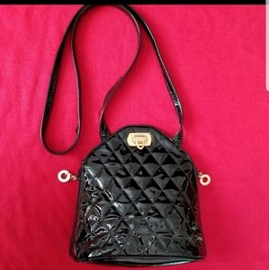 Park Ave Int quilted leather purse,  black